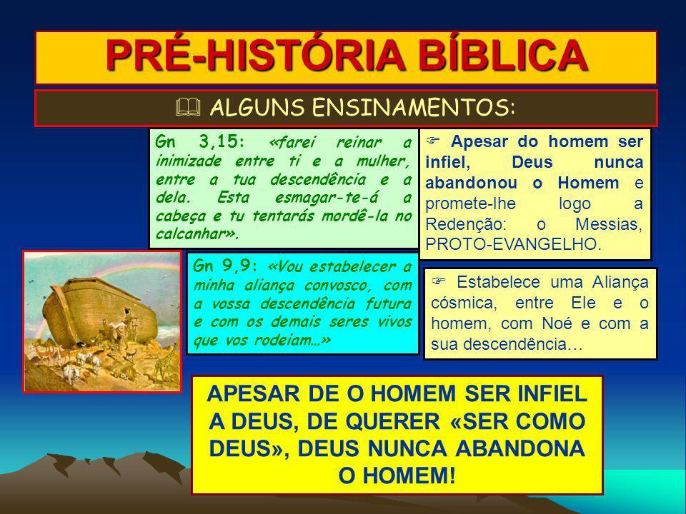 PRÉ-HISTÓRIA BÍBLICA ALGUNS ENSINAMENTOS: Apesar do homem ser infiel, Deus nunca abandonou o Homem e promete-lhe logo a Redenção: o Messias, PROTO-EVA