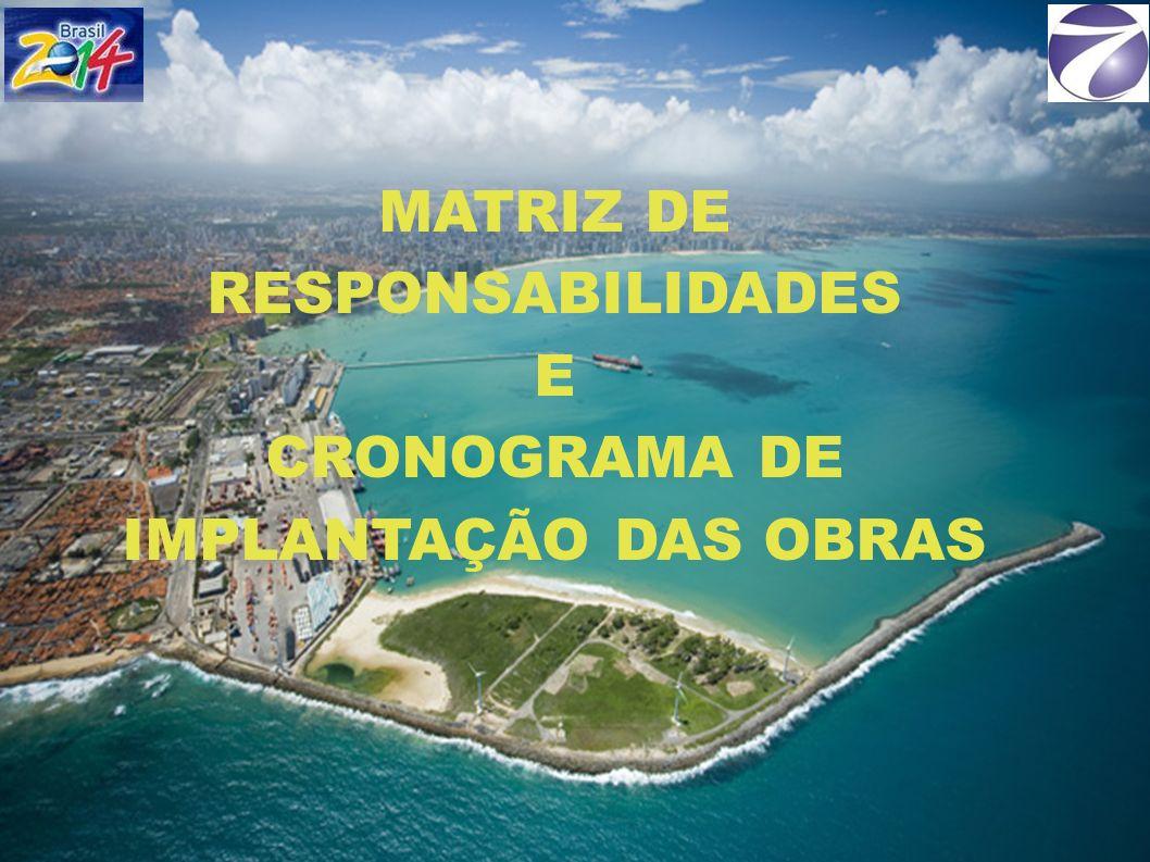MATRIZ DE RESPONSABILIDADES E CRONOGRAMA DE IMPLANTAÇÃO DAS OBRAS