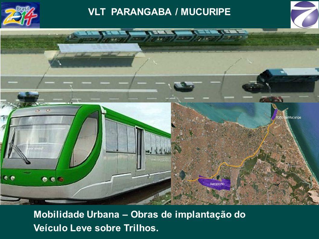 VLT PARANGABA / MUCURIPE Mobilidade Urbana – Obras de implantação do Veículo Leve sobre Trilhos.