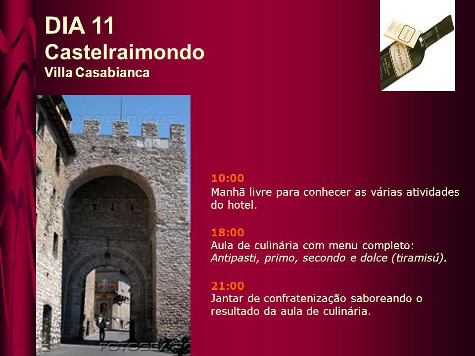 10:00 Depois do café da manhã, visita a Assisi.