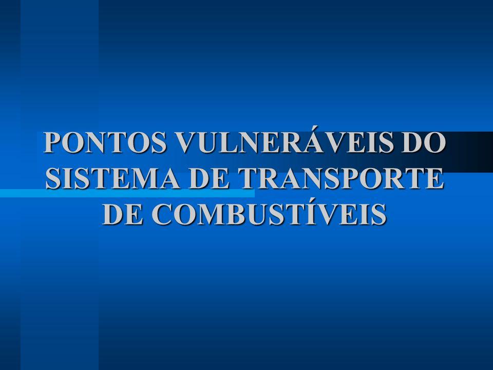 PONTOS VULNERÁVEIS DO SISTEMA DE TRANSPORTE DE COMBUSTÍVEIS