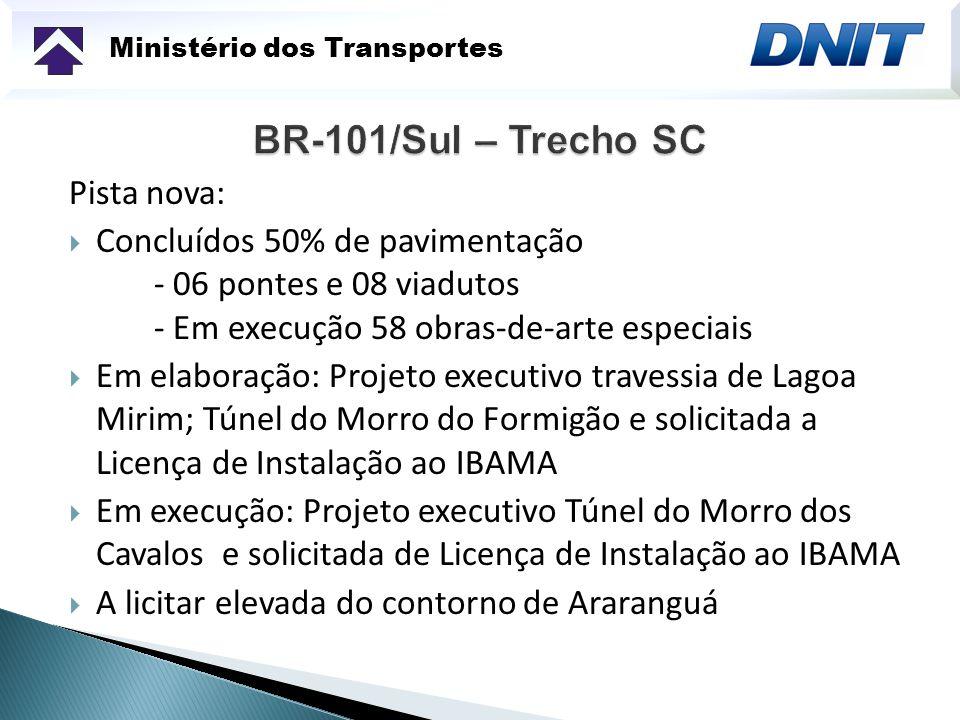 Ministério dos Transportes Novas travessias sobre o Rio Uruguai