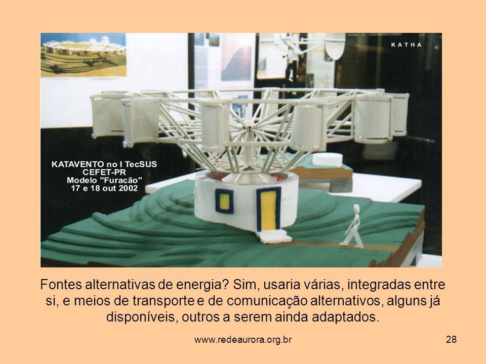 www.redeaurora.org.br28 Fontes alternativas de energia.