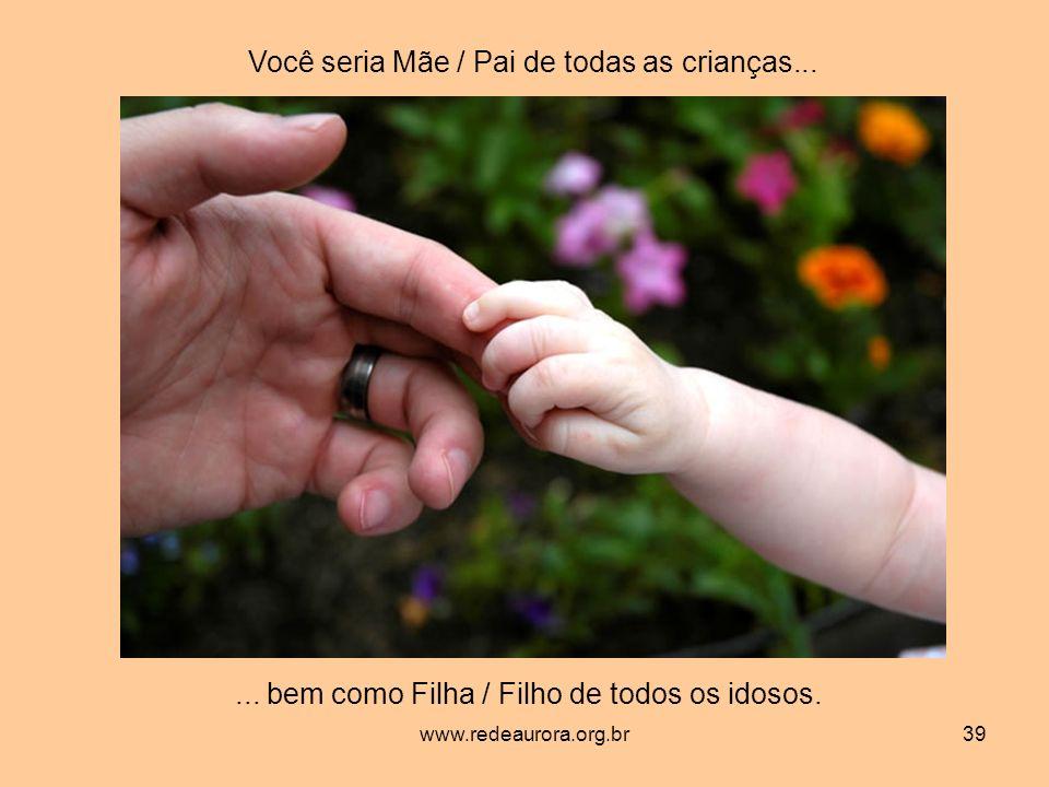 www.redeaurora.org.br39 Você seria Mãe / Pai de todas as crianças......