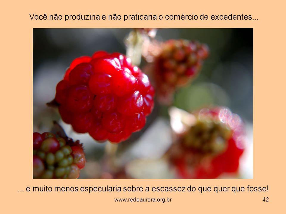 www.redeaurora.org.br42 Você não produziria e não praticaria o comércio de excedentes......