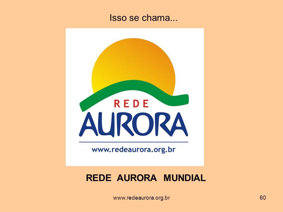 www.redeaurora.org.br60 Isso se chama... REDE AURORA MUNDIAL