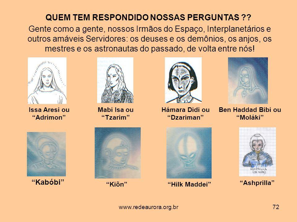 www.redeaurora.org.br72 QUEM TEM RESPONDIDO NOSSAS PERGUNTAS ?.