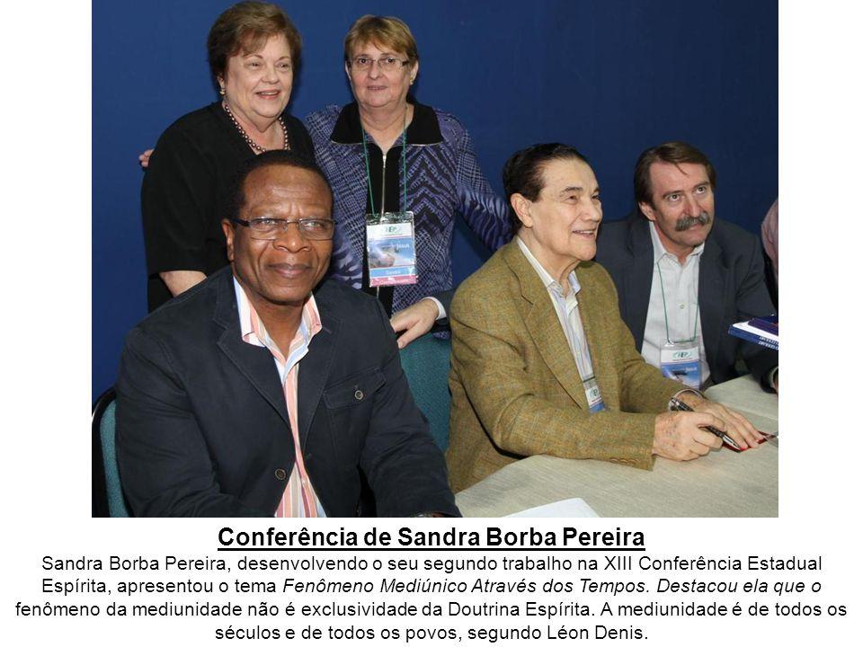 Atividades do dia 20 de março de 2011 A XIII Conferência Estadual Espírita, promovida pela Federação Espírita do Paraná, com o título Mediunidade com Jesus, foi realizada nos dias 18, 19 e 20 de março de 2011, nas dependências da Expotrade, localizada em Pinhais, região metropolitana de Curitiba/PR.