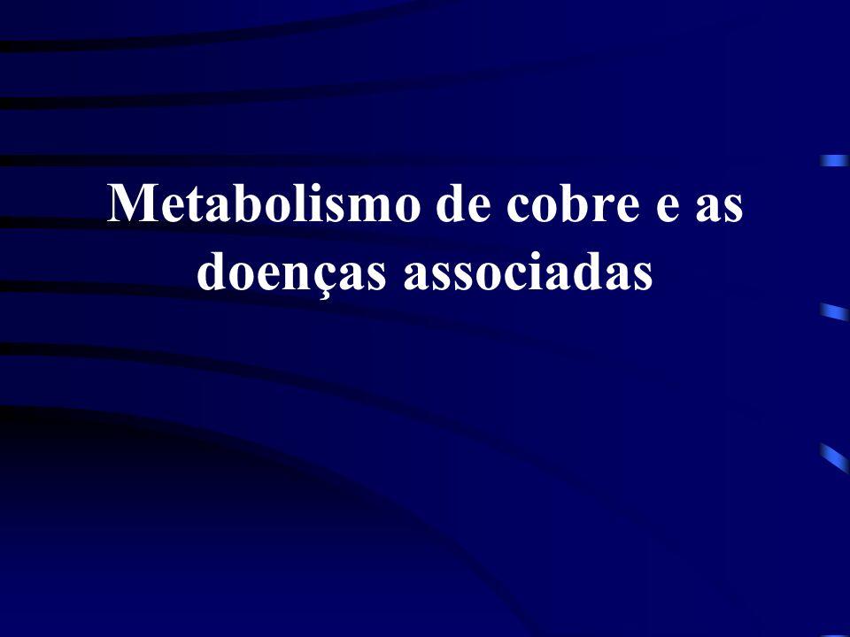 Metabolismo de cobre e as doenças associadas