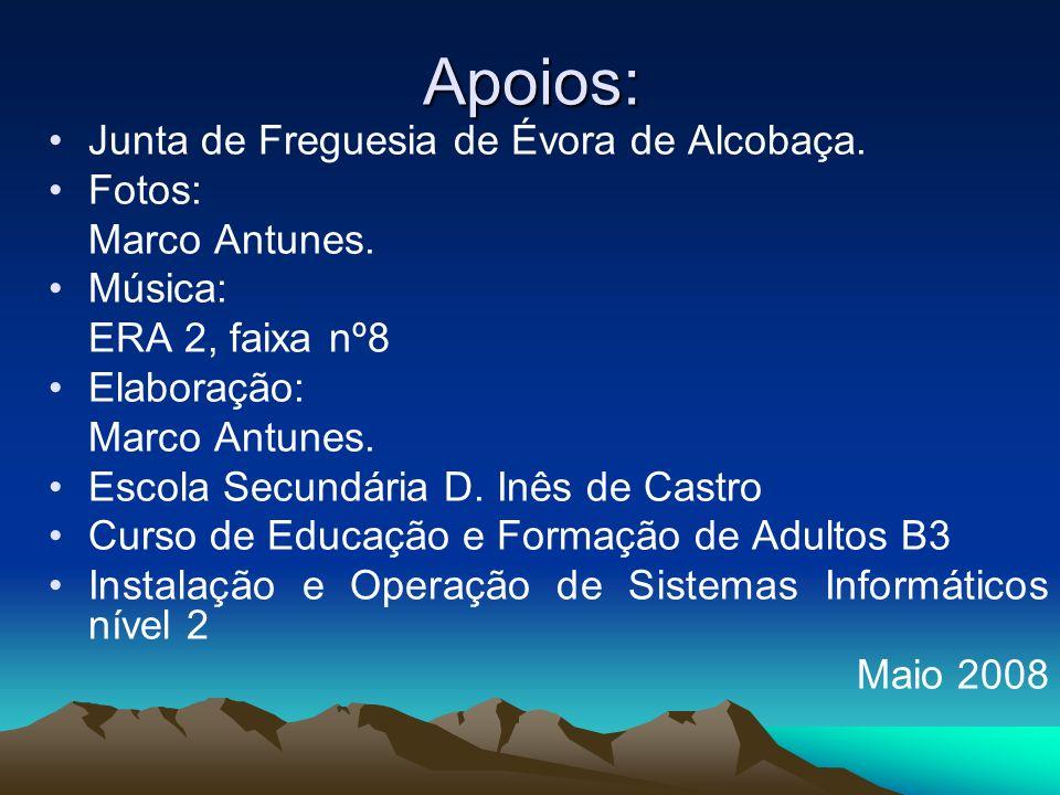 Apoios: Junta de Freguesia de Évora de Alcobaça.Fotos: Marco Antunes.