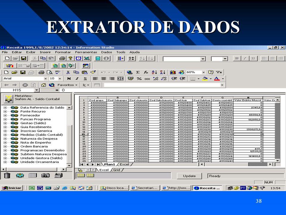 38 EXTRATOR DE DADOS