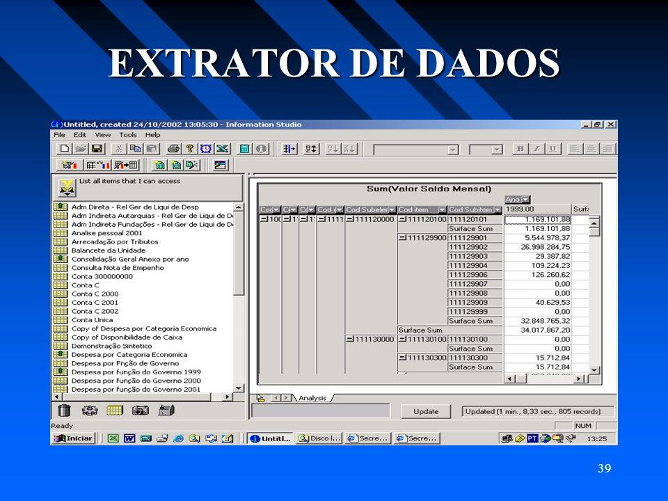 39 EXTRATOR DE DADOS