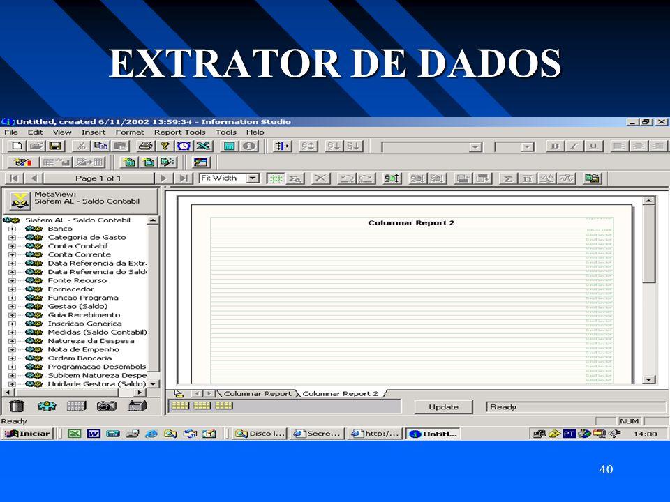 40 EXTRATOR DE DADOS