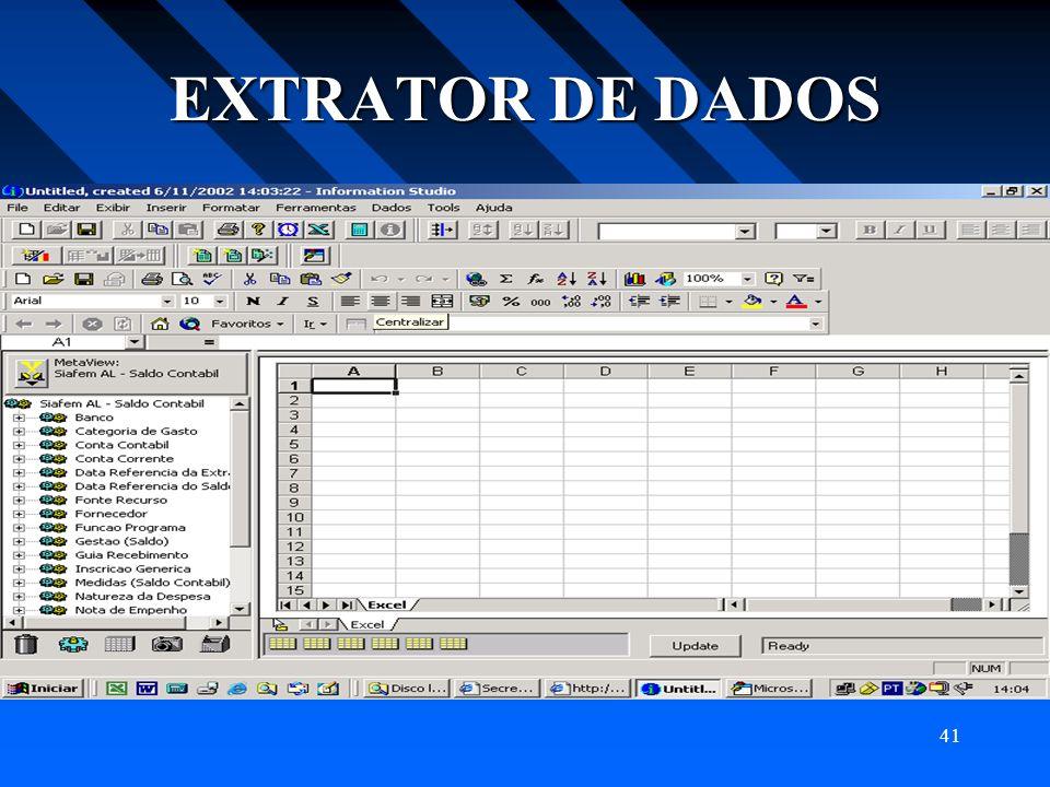 41 EXTRATOR DE DADOS