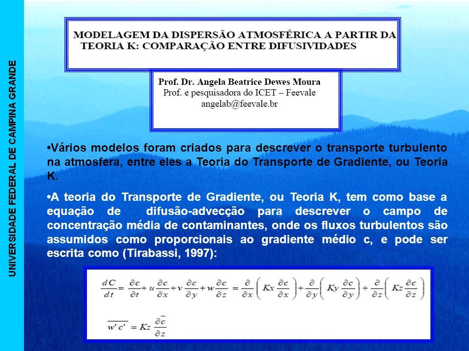 Vários modelos foram criados para descrever o transporte turbulento na atmosfera, entre eles a Teoria do Transporte de Gradiente, ou Teoria K.