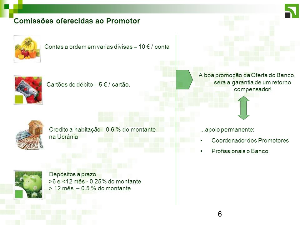 6 Depósitos a prazo >6 e <12 mês - 0.25% do montante > 12 mês.