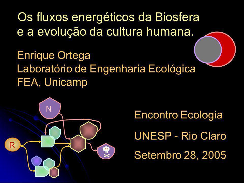 Os fluxos energéticos da Biosfera e a evolução da cultura humana.