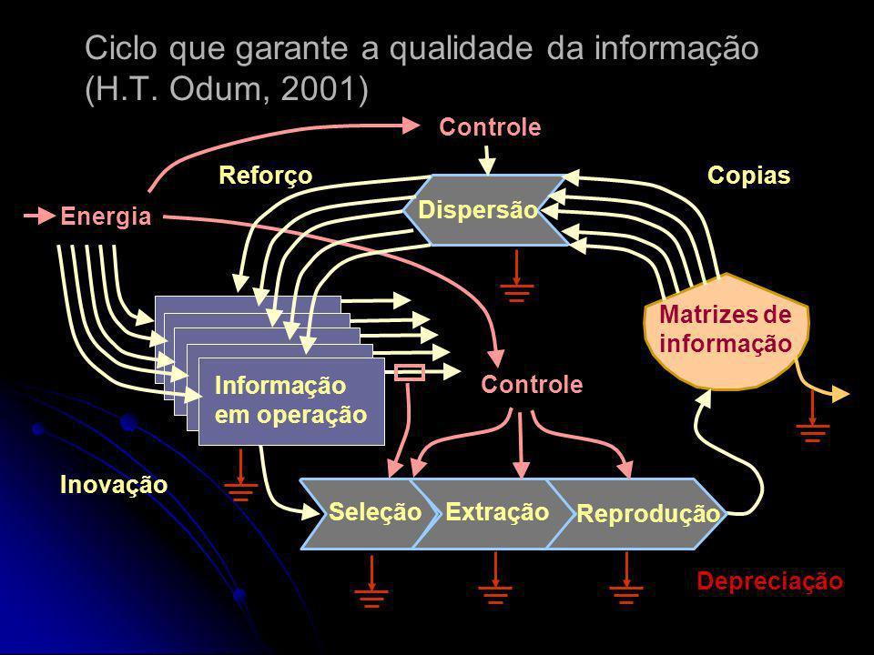 A informação se perde quando sua base material se degrada, a manutenção da qualidade da informação exige um trabalho de cópia e recuperação a partir d