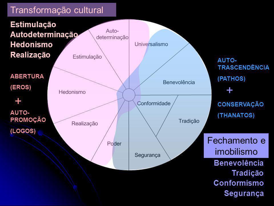 Álvaro Tamayo e Juliana Barretos (Orgs.) Valores e comportamento nas organizações. Editora Vozes, RJ, 2005 ABERTURA A MUDANÇA AUTO- TRASCENDÊNCIA AUTO