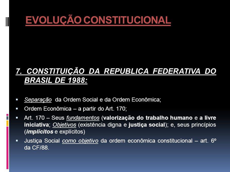 ORDEM ECONOMICA NA CONSTITUIÇÃO DE 1988 1.