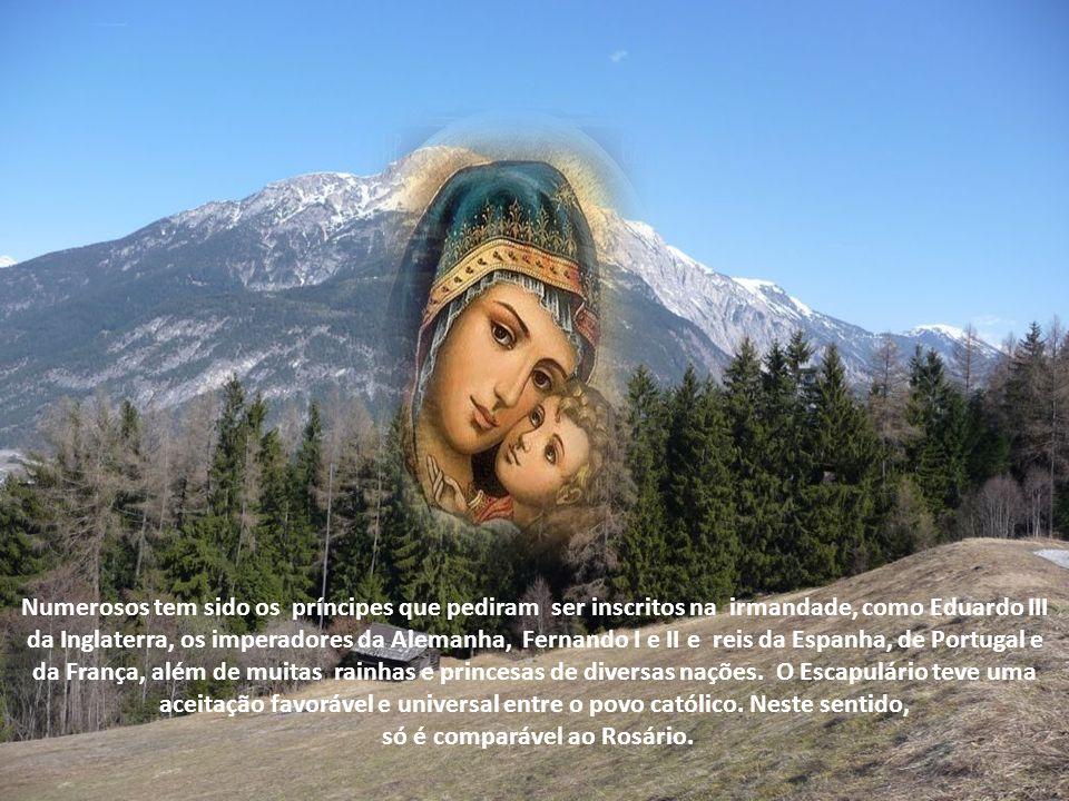 Estando-lhe assim satisfeita a maior aspiração, Simão Stock tratou então de divulgar a irmandade do escapulário e convidar o mundo católico a particip
