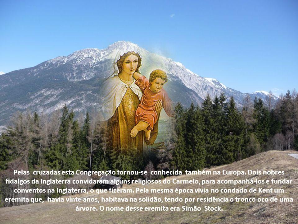 Historicamente documentadas são as seguintes datas da Ordem de Nossa Senhora do Carmelo. Foi no século XII que o calabrez Bertoldo, com alguns companh