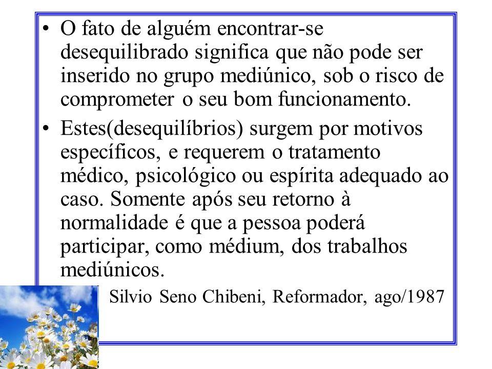 A educação mediúnica, à semelhança do desenvolvimento de qualquer aptidão, impõe tempo, paciência, perseverança, estudo, interesse. Manoel P. de Miran