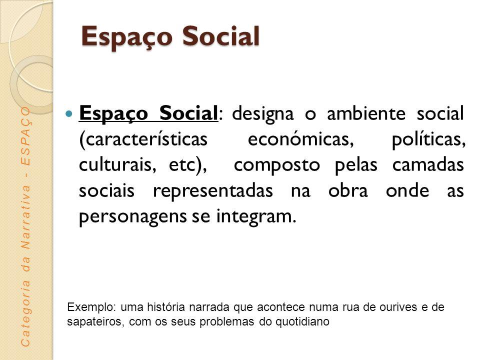 Espaço Social Espaço Social: designa o ambiente social (características económicas, políticas, culturais, etc), composto pelas camadas sociais represe