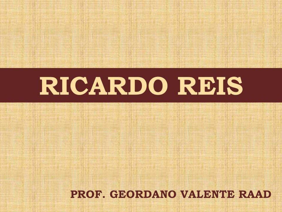 RICARDO REIS PROF. GEORDANO VALENTE RAAD