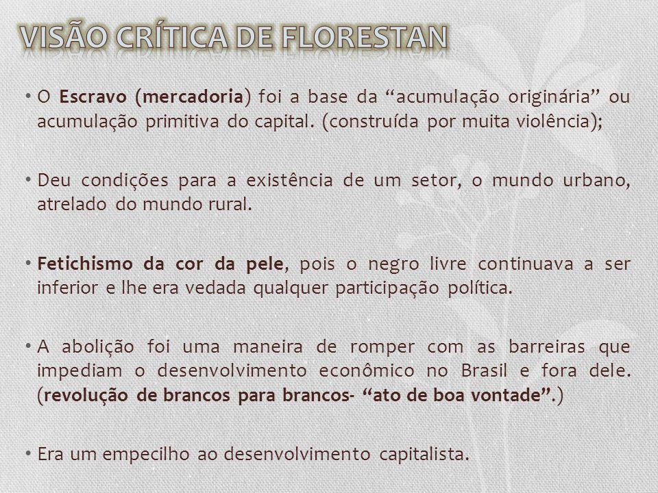 A visão positivista do progresso dentro da ordem (positivista) exigia um discurso de cordialidade e fraternidade entre as raças no Brasil.