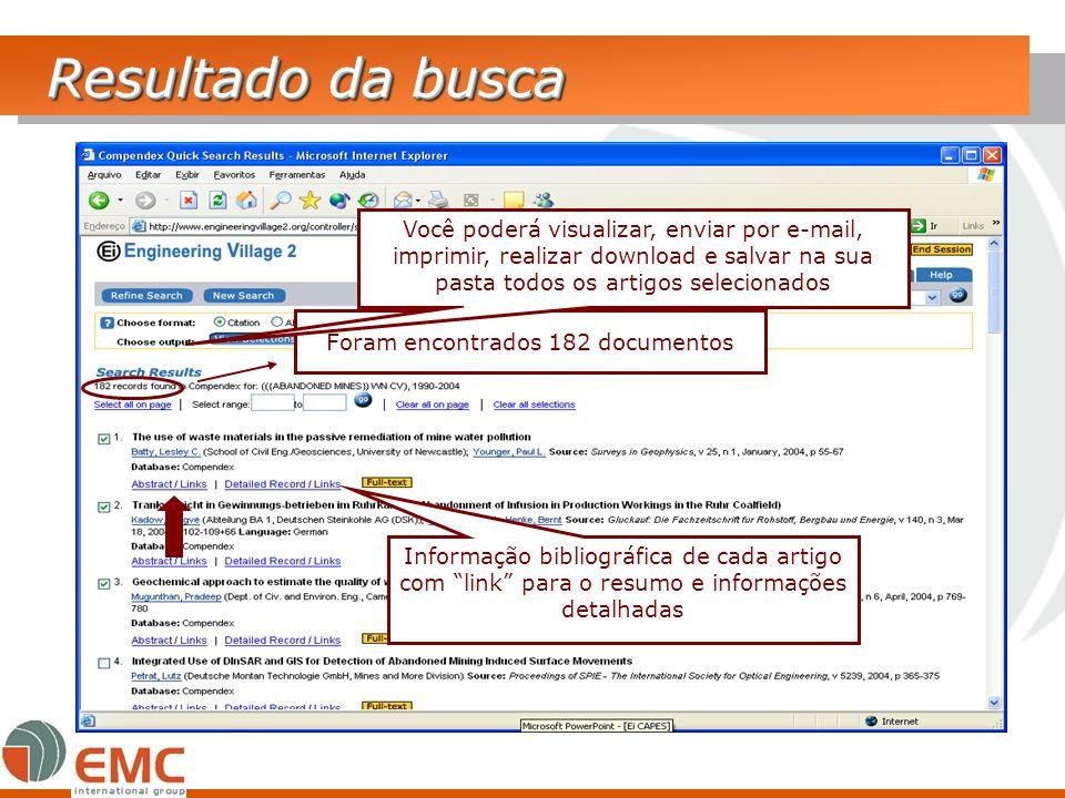 Resultado da busca Foram encontrados 182 documentos Você poderá visualizar, enviar por e-mail, imprimir, realizar download e salvar na sua pasta todos