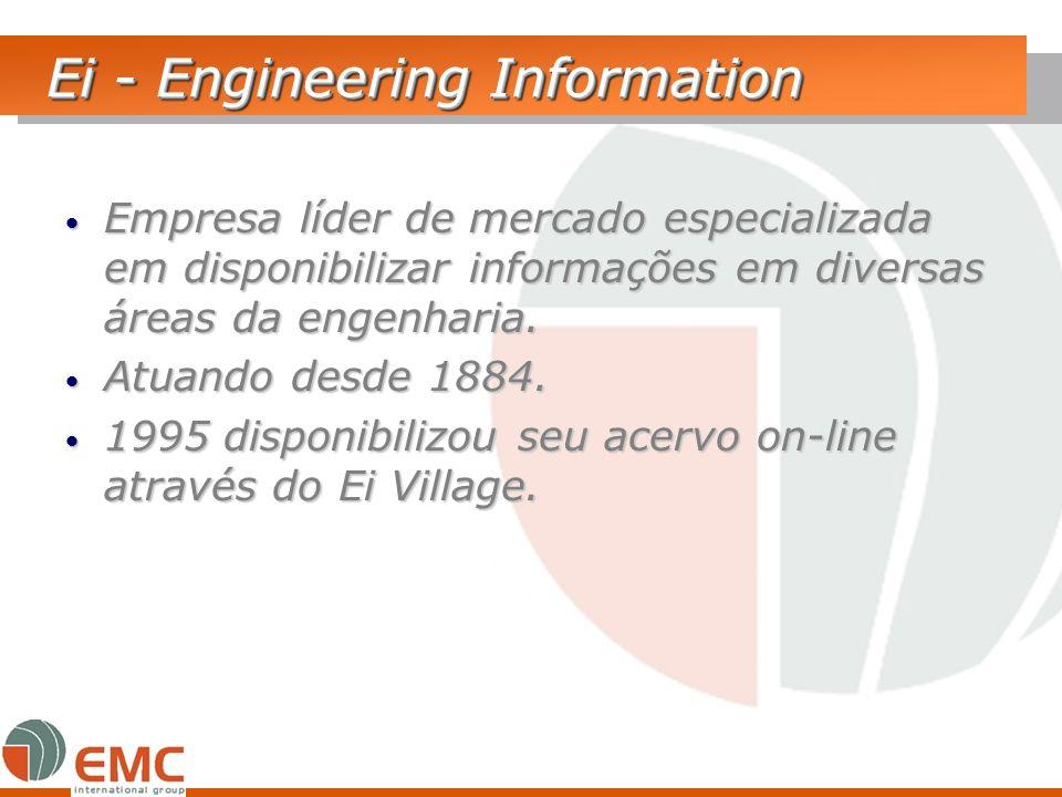 Ei - Engineering Information Empresa líder de mercado especializada em disponibilizar informações em diversas áreas da engenharia. Empresa líder de me