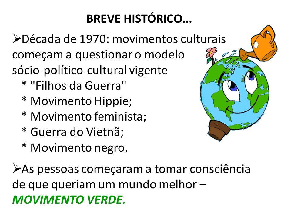 BREVE HISTÓRICO... Década de 1970: movimentos culturais começam a questionar o modelo sócio-político-cultural vigente *