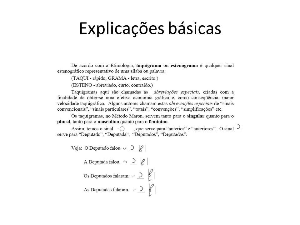 Explicações básicas