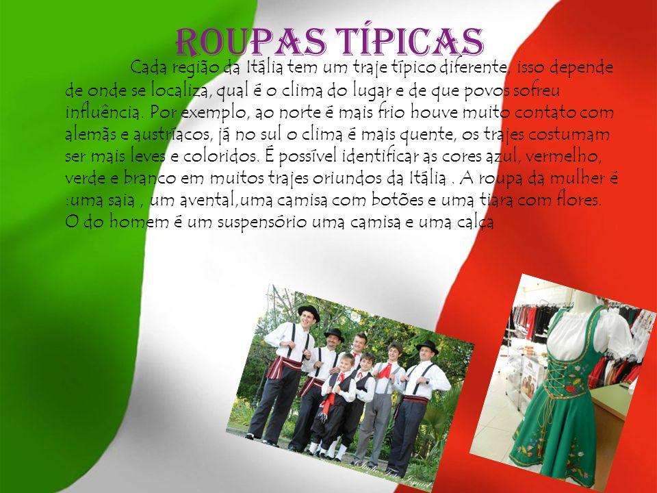 Danças típicas A Tarantella é uma forma de dança animada que se originou na Itália.