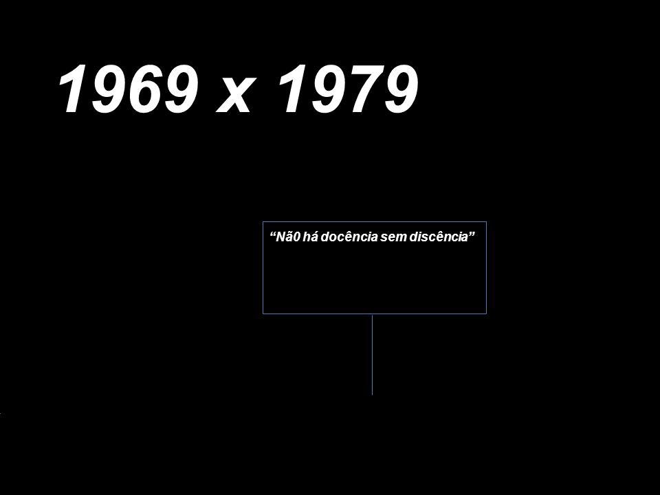 Nã0 há docência sem discência 1969 x 1979