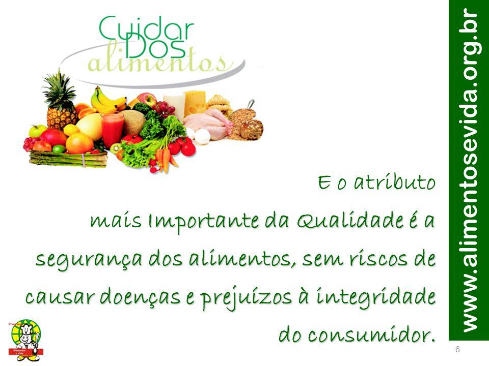 www.alimentosevida.org.br 7 A demanda por alimentos de uma população que deverá chegar a 9 bilhões até 2050, impõe às lideranças globais o desafio de aumentar a produção de alimentos de maneira sustentável.