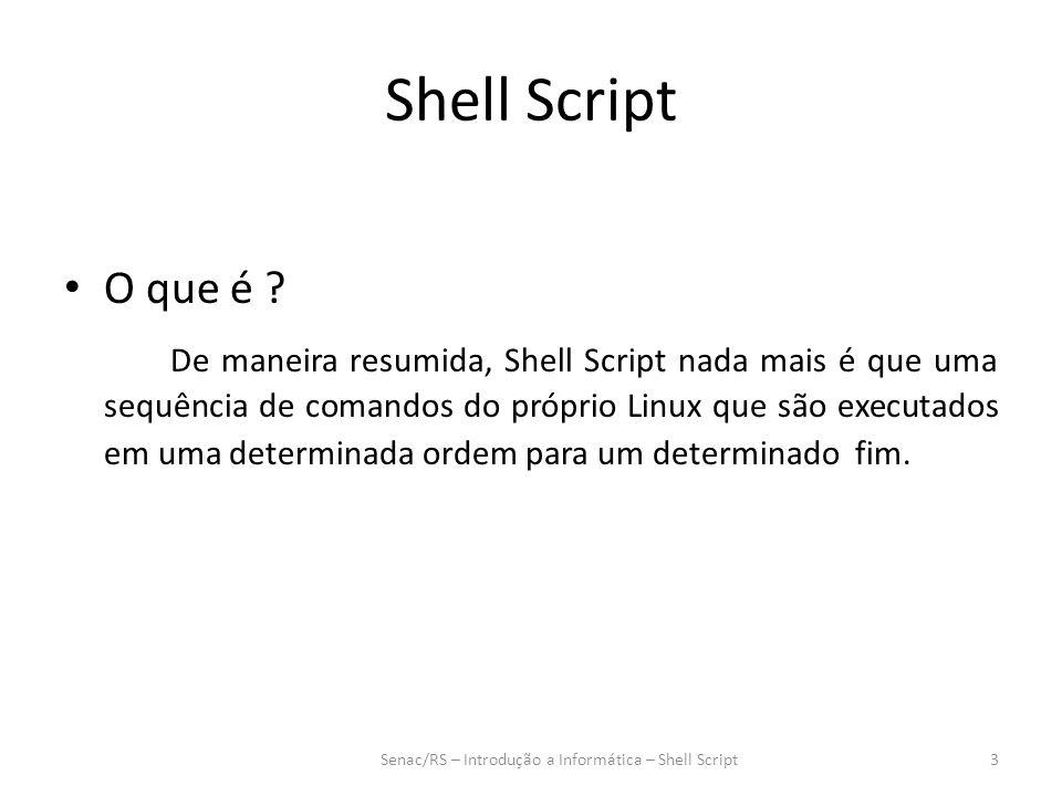 Shell Script O que é .