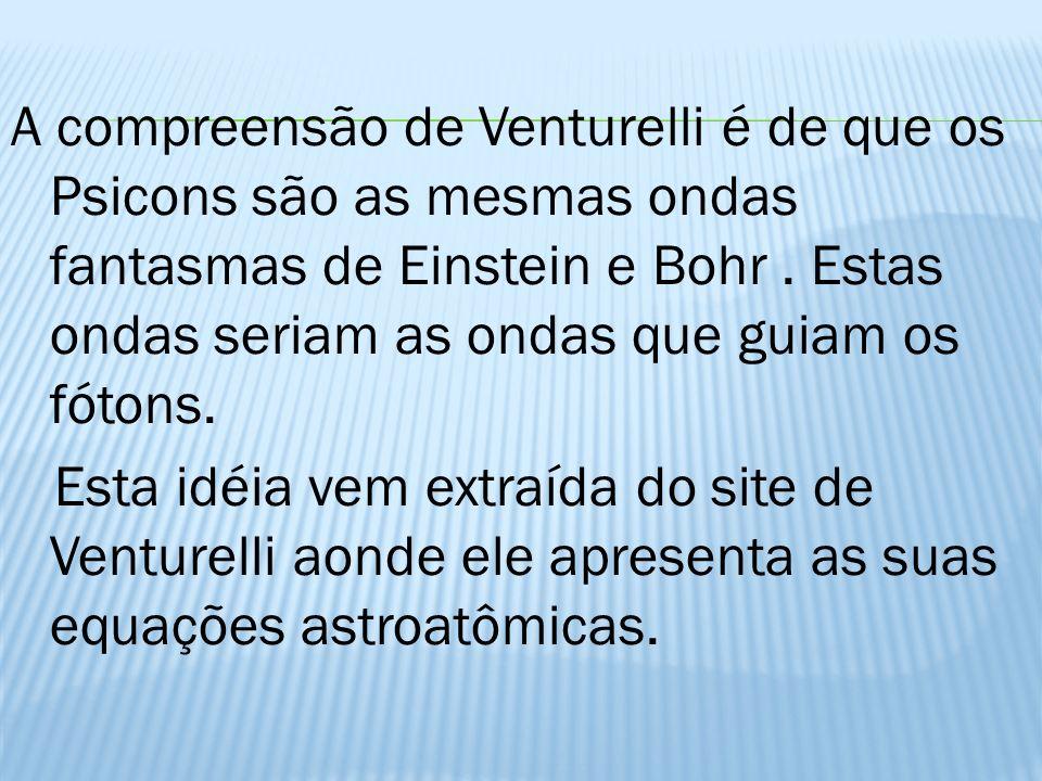 A compreensão de Venturelli é de que os Psicons são as mesmas ondas fantasmas de Einstein e Bohr.