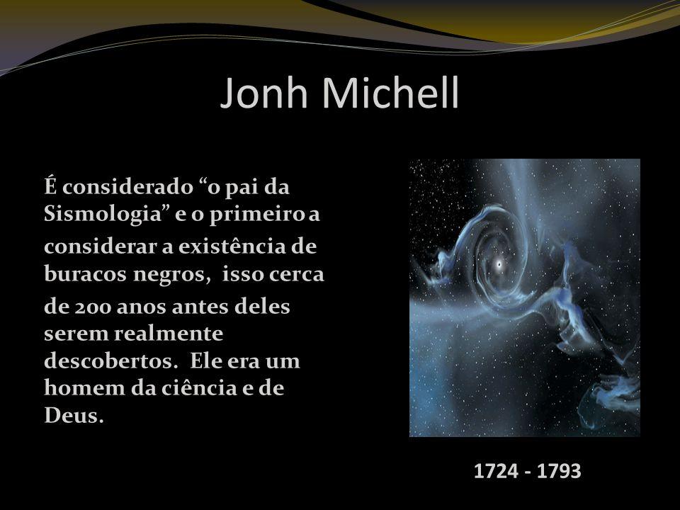 Jonh Michell É considerado o pai da Sismologia e o primeiro a considerar a existência de buracos negros, isso cerca de 200 anos antes deles serem realmente descobertos.
