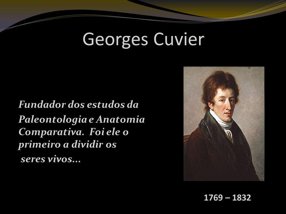 Georges Cuvier Fundador dos estudos da Paleontologia e Anatomia Comparativa.