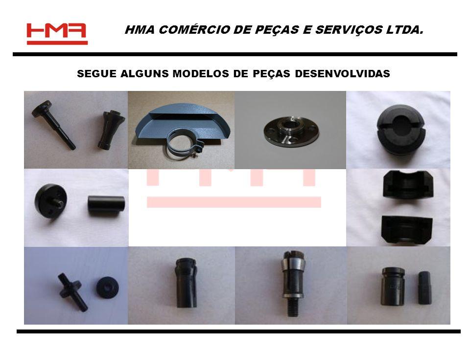 HMA COMÉRCIO DE PEÇAS E SERVIÇOS LTDA. SEGUE ALGUNS MODELOS DE PEÇAS DESENVOLVIDAS