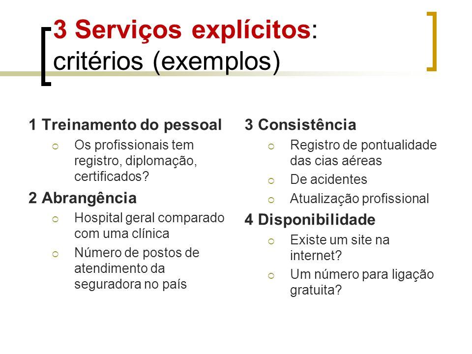 1 Treinamento do pessoal Os profissionais tem registro, diplomação, certificados? 2 Abrangência Hospital geral comparado com uma clínica Número de pos