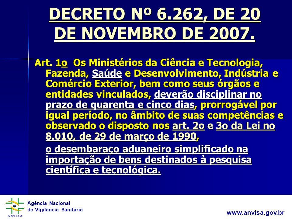 Agência Nacional de Vigilância Sanitária www.anvisa.gov.br RDC 01/ 2008 6.