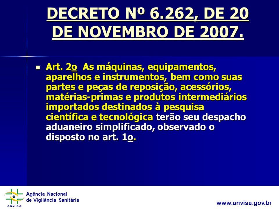 Agência Nacional de Vigilância Sanitária www.anvisa.gov.br RDC 01/ 2008 1.
