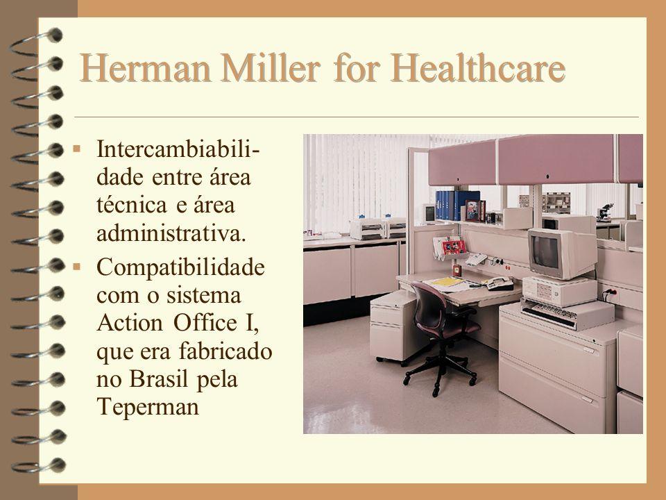 Intercambiabili- dade entre área técnica e área administrativa. Compatibilidade com o sistema Action Office I, que era fabricado no Brasil pela Teperm