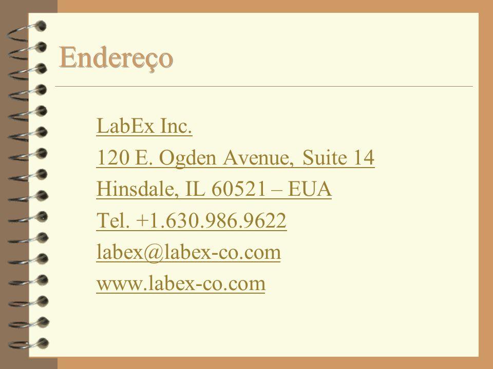 LabEx Inc. 120 E. Ogden Avenue, Suite 14 Hinsdale, IL 60521 – EUA Tel. +1.630.986.9622 labex@labex-co.com www.labex-co.com