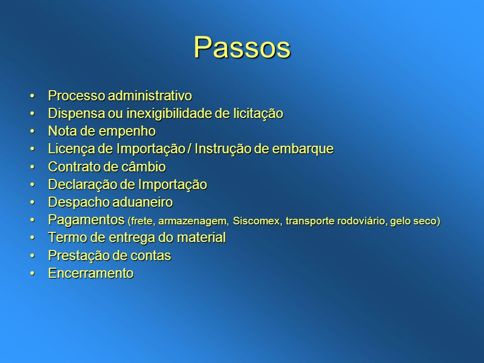 Passos Processo administrativoProcesso administrativo Dispensa ou inexigibilidade de licitaçãoDispensa ou inexigibilidade de licitação Nota de empenho