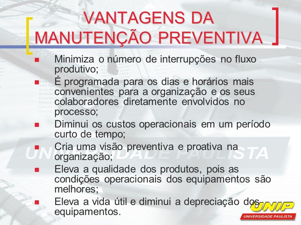 MANUTENÇÃO PREDITIVA Afirma Martins (2006, p.468): manutenção preditiva consiste em monitorar certos parâmetros ou condições de equipamentos e instalações de modo a antecipar a identificação de um futuro problema.