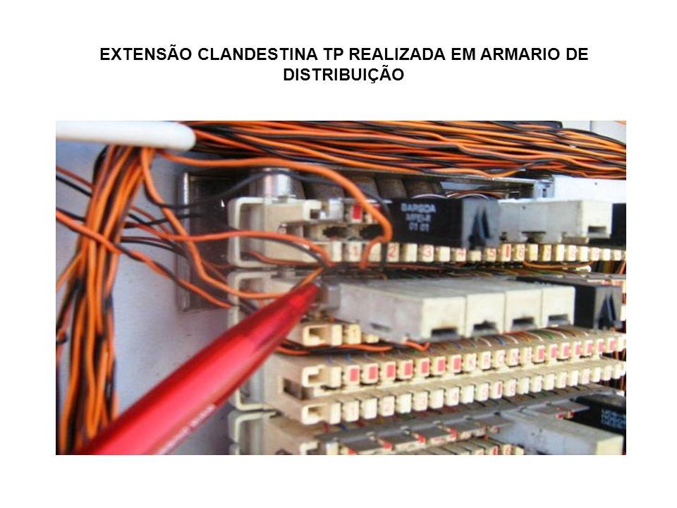 EXTENSÃO CLANDESTINA TP REALIZADA EM ARMARIO DE DISTRIBUIÇÃO